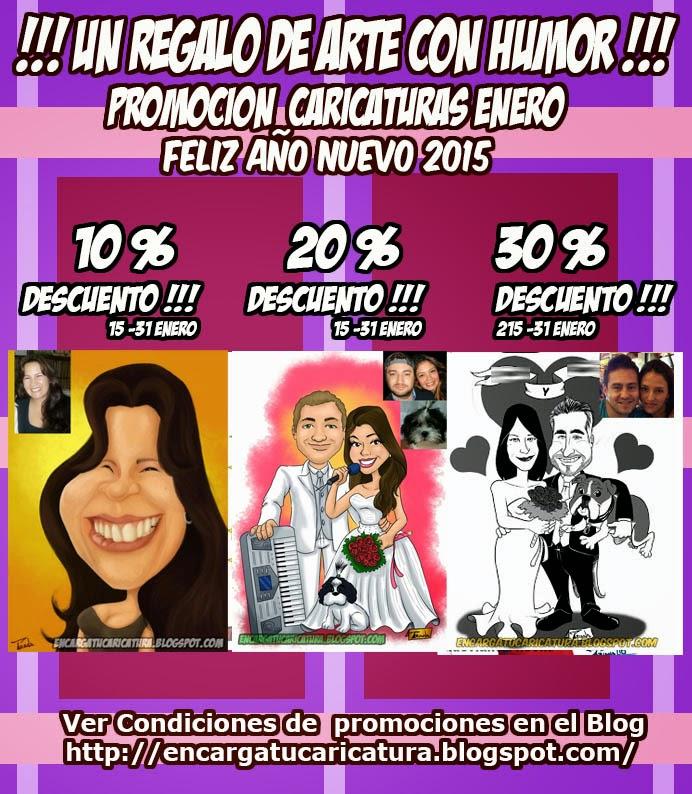 PROMOCION CARICATURAS COMIENZO DE AÑO 2015