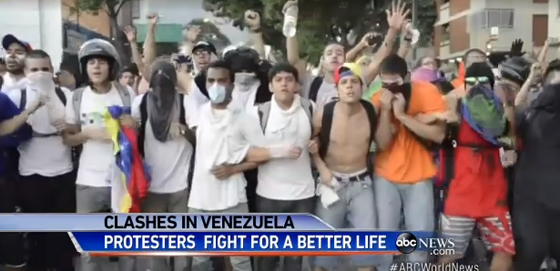 """Protesters in Venezuela: America's corporate media tells you these are the """"good protesters."""""""