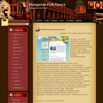 Hungarian Folk Dance Blogger Template. free download template blogspot