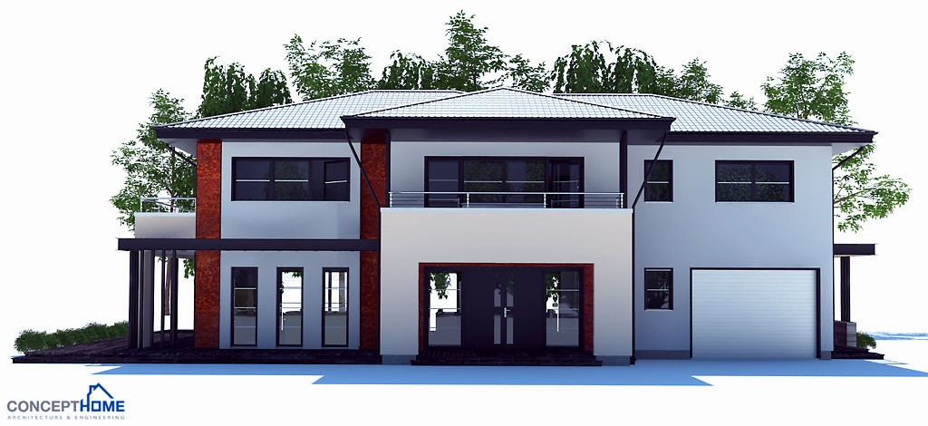 Australian house plans australian house plan ch204 for Big modern house designs