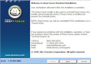 cara uninstall deep freeze pada komputer