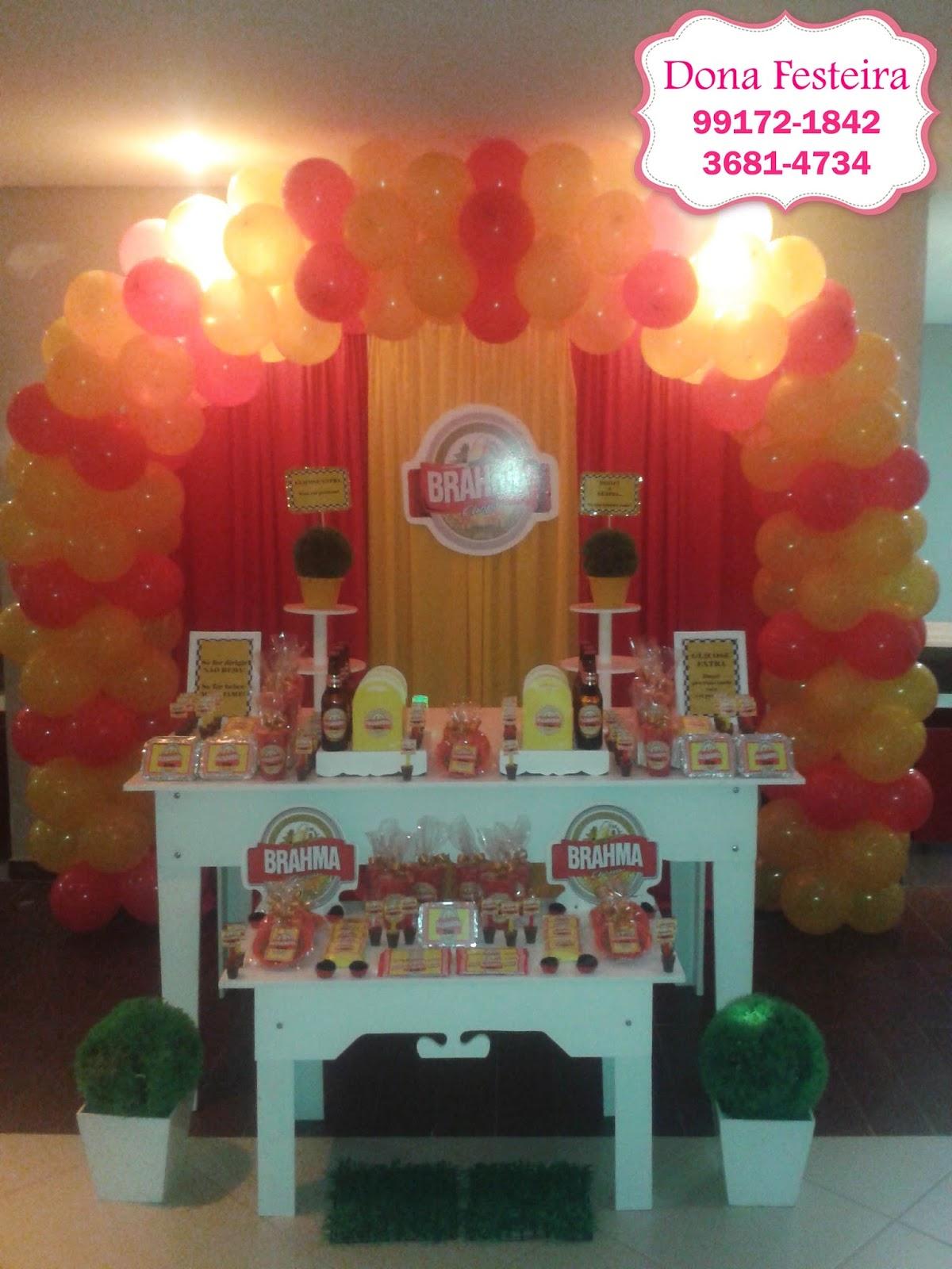 decoracao boteco brahma : decoracao boteco brahma:Mesa do tema Brahma em nosso pacote mini para comemorar o aniversário