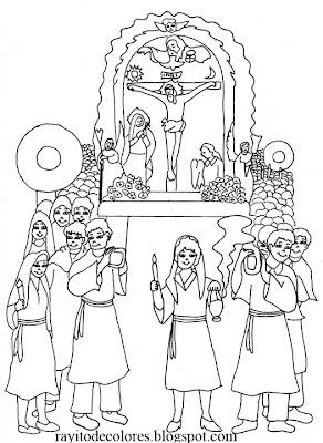 Dibujo del Señor de los Milagros