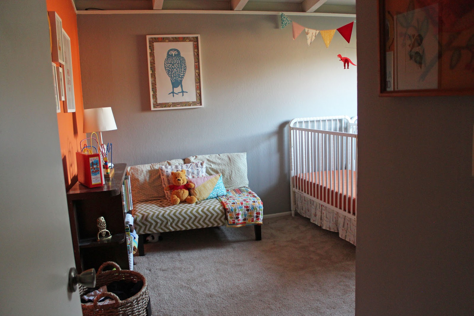 Miranda murdock nursery two Master bedroom with a crib