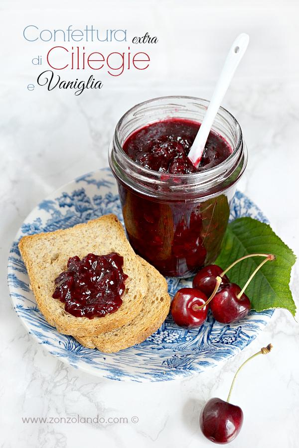 Confettura extra di ciliegie aromatizzata alla vaniglia ricetta per farla in casa vanilla cherry jam homemade recipe
