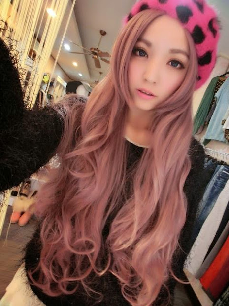 aesthetics hair colors asian