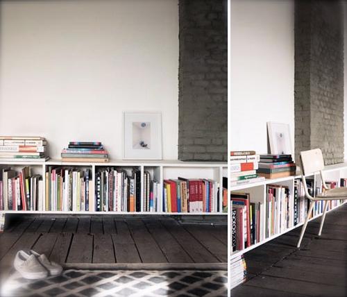 Decorando con libros las paredes de casa