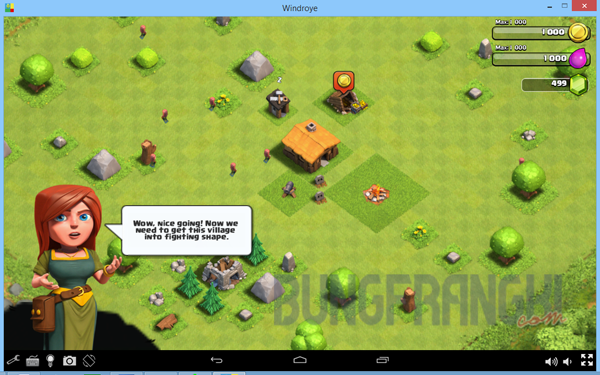 Intal game clash of clans (COC) di komputer emulator Windroye