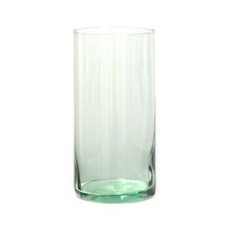 Jarron redondo de cristal translucido