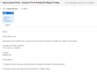 Sponsored Post : Celcom First PortaWIFI Raya