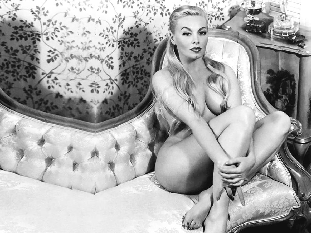 Virginia bell pasties on her humongous breasts