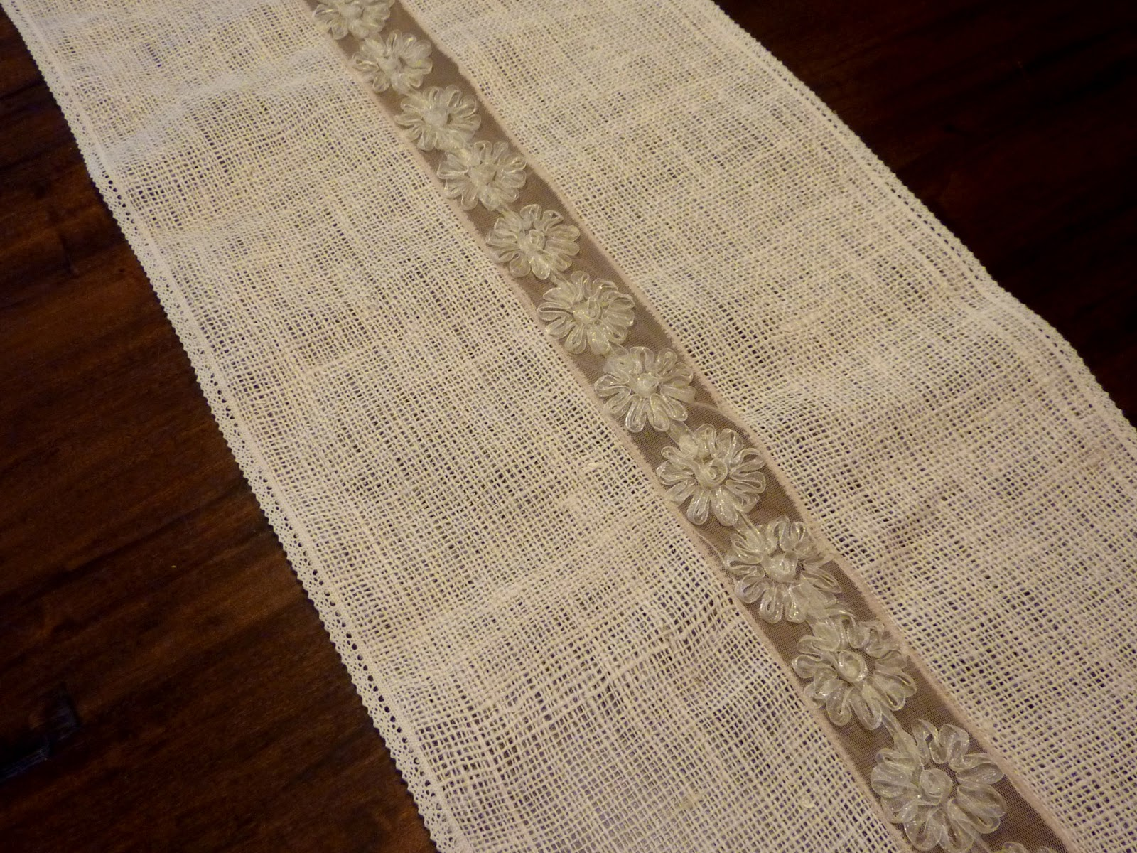 Burlap our Table runner  burlap table Runner Sanity: Sewing