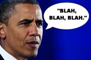 President blah blah Obama