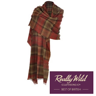 REALLY WILD Cashmere Mix Wrap in Claret