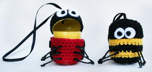 Coccinella e ape amigurumi