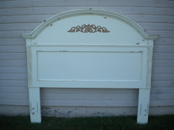 queen shabby headboard...SOLD