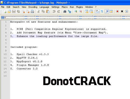 Free download Notepad ++ V6