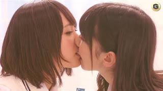 AKB48 lesbian french kiss candy CM