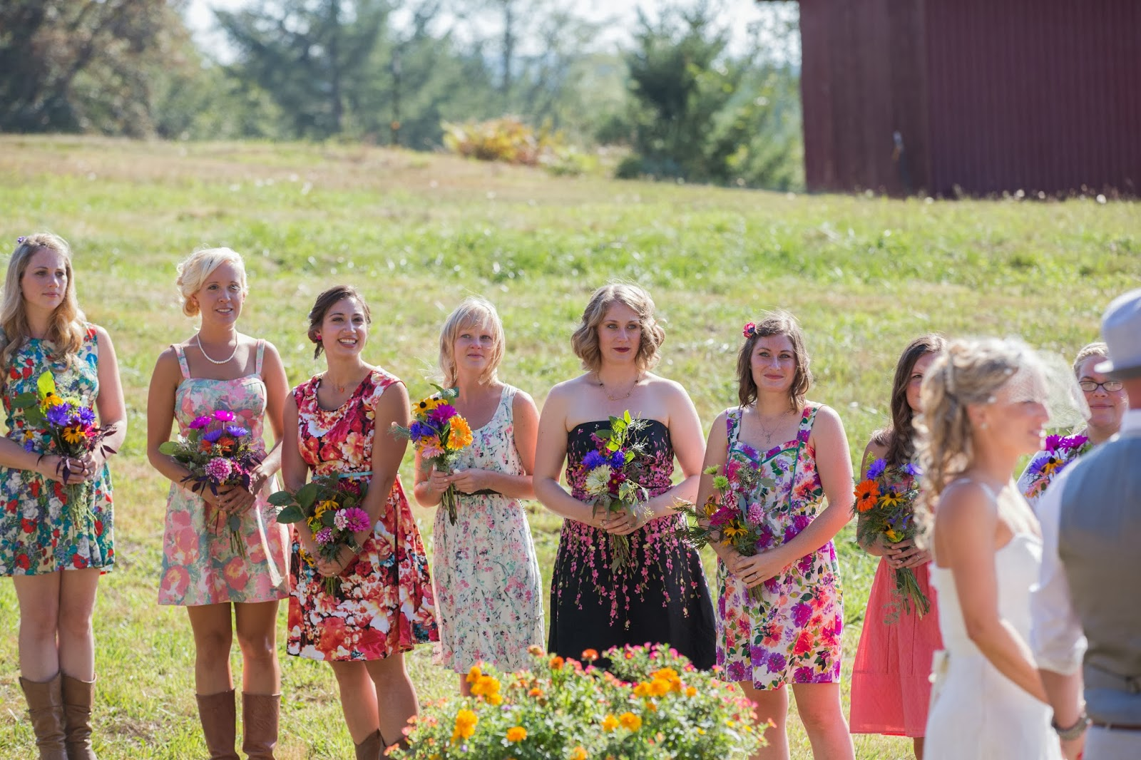 Beautiful mismatched bridesmaids the squirrel jar what are your bridesmaids wearing my response whatever they have in their closet crickets that is what you will hear along with the sound ombrellifo Choice Image