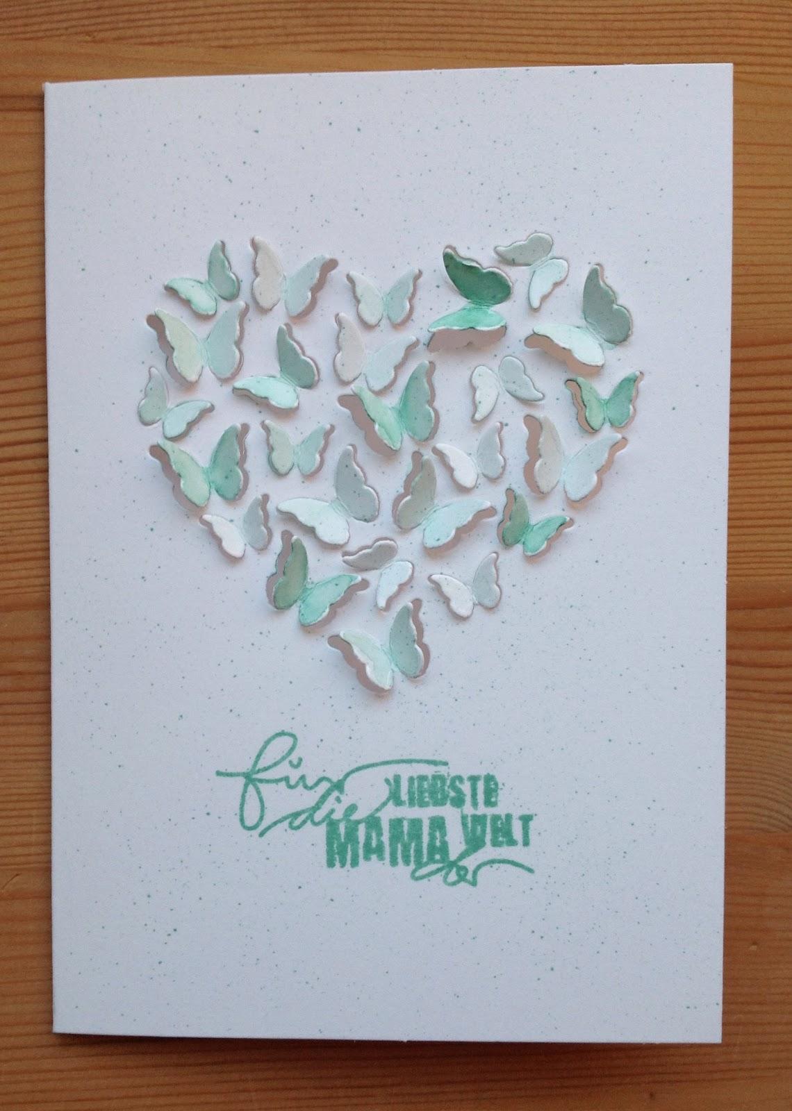 Memory Box Stanzform Herz & Schmetterlinge, Schriftstempel Stempelbox