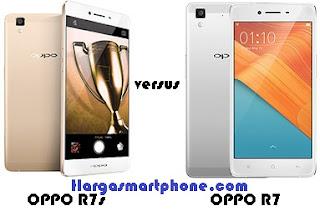 Harga dan Perbedaan OPPO R7s dengan R7