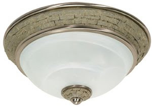 Nuvo 60-2489 2 Light Rockport Milano Es Flush Dome With Alabaster Swirl Glass (Lamp Included) Brushed Nickel