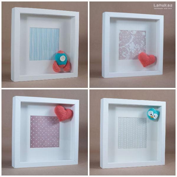 Lanukas marcos personalizados de amigurumi Marcos cuadros ikea