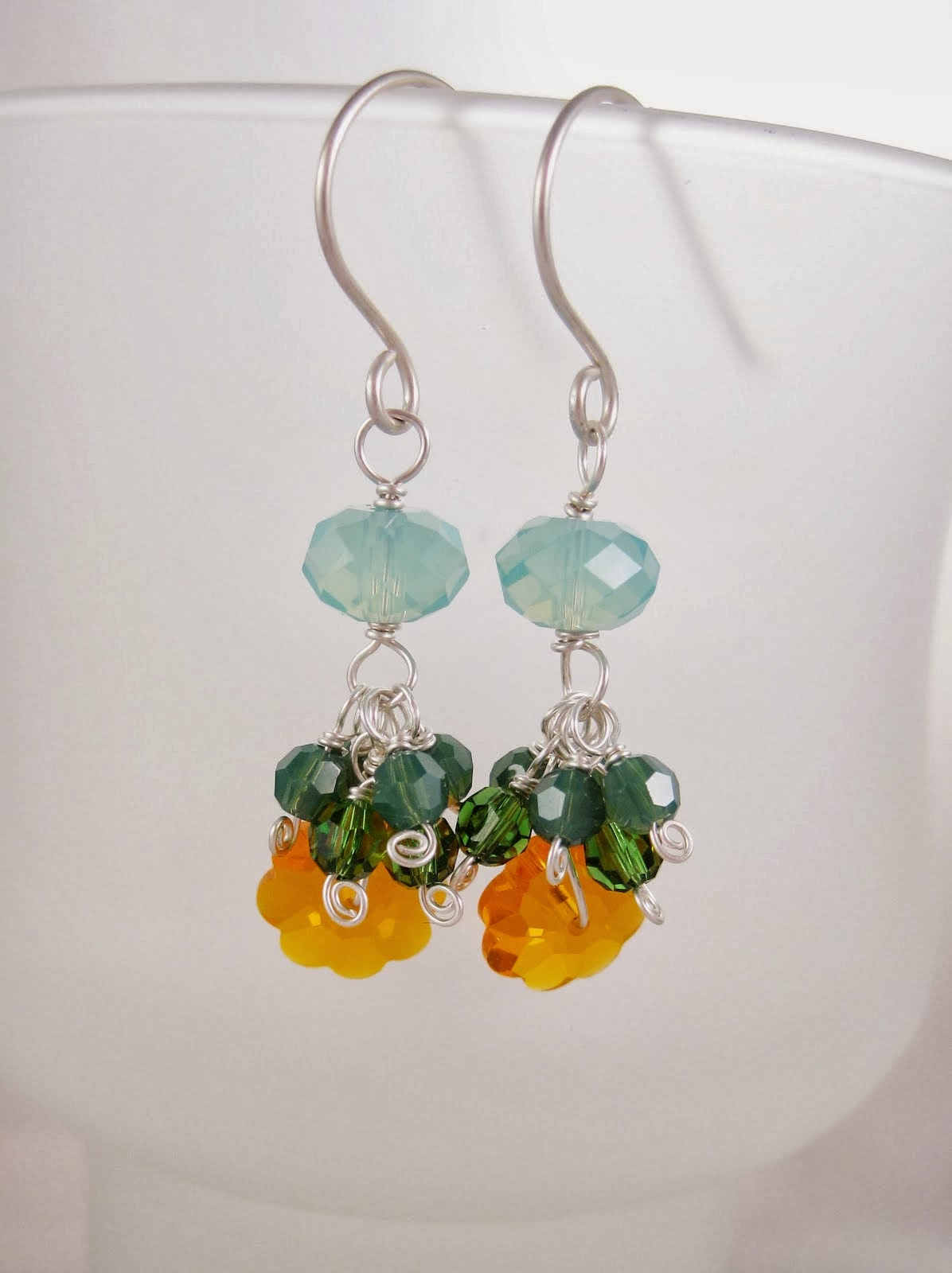 Sunflower Crystal Earrings