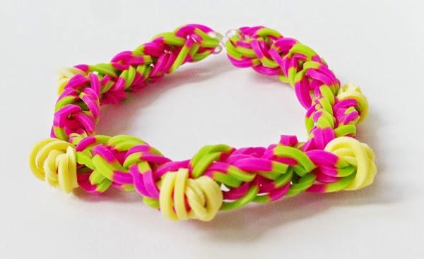 cómo hacer pulseras de ligas - sin telar-