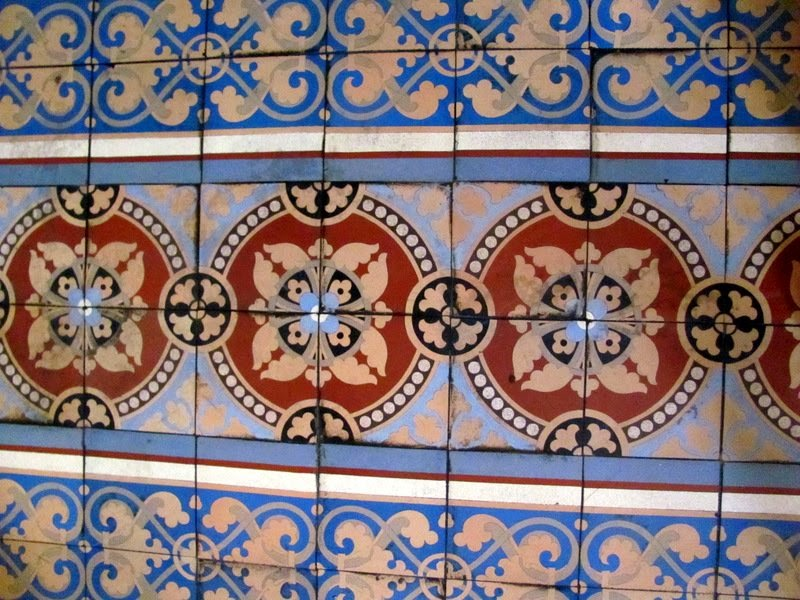 Mexican ceramic floor tile