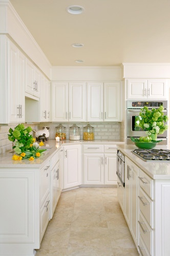White Kitchen Countertops With White Cabinets sense and simplicity: 4 great countertop colours for white kitchens