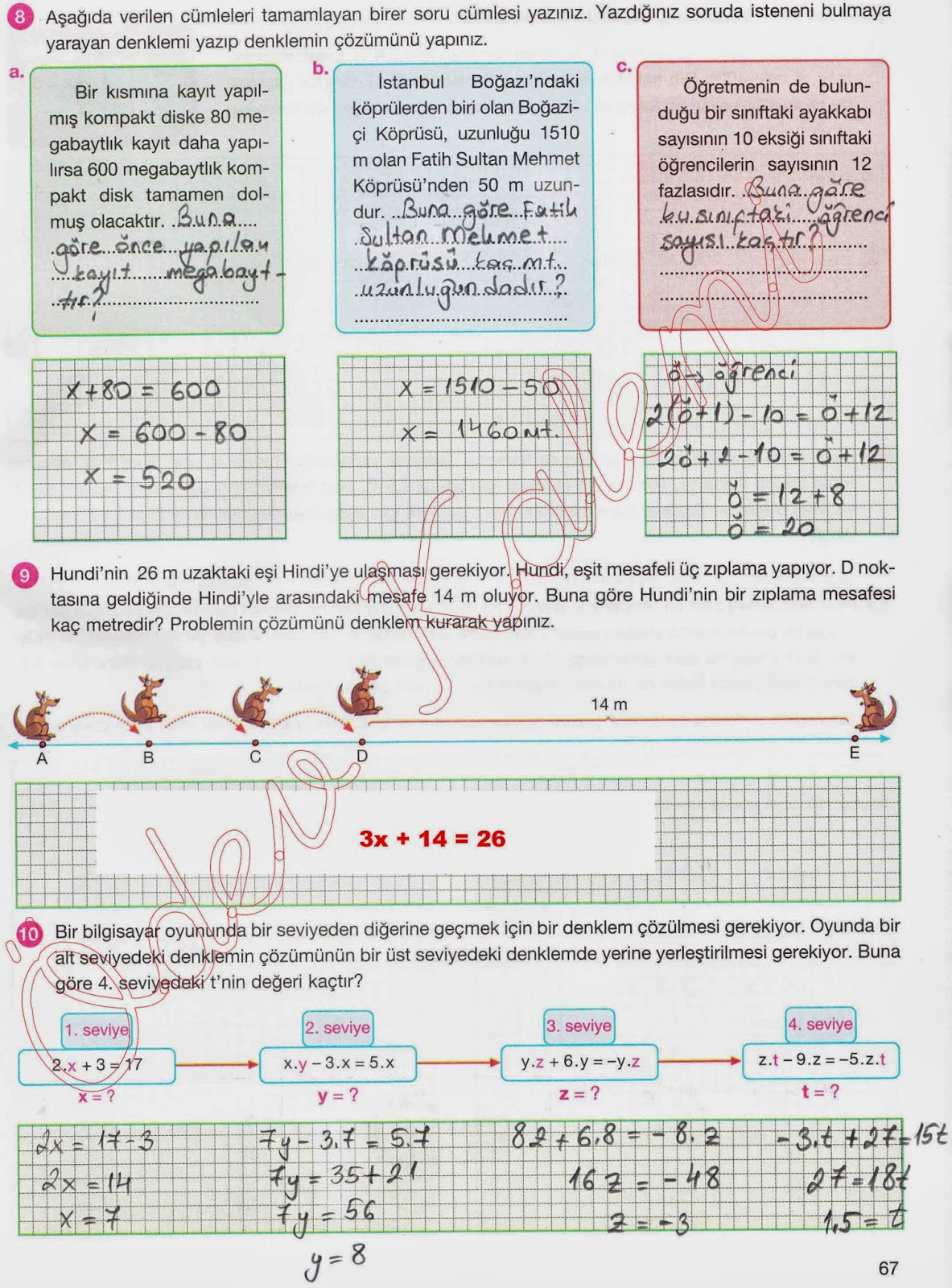 Sinif Matematik Aydin Yayinlari Çalişma Kitabi Cevaplari Sayfa