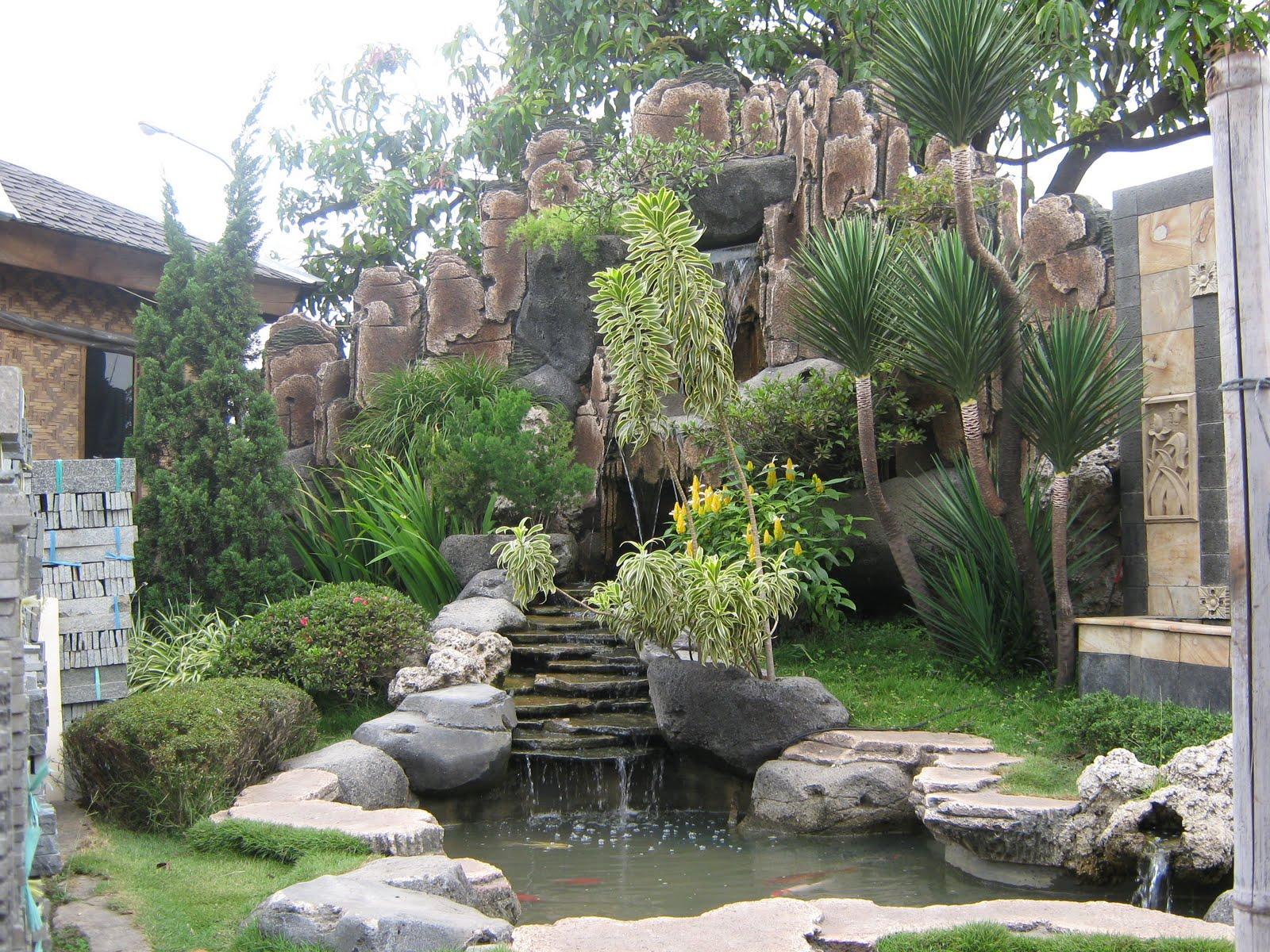 v thunder 987 sample dekorasi taman dan kolam