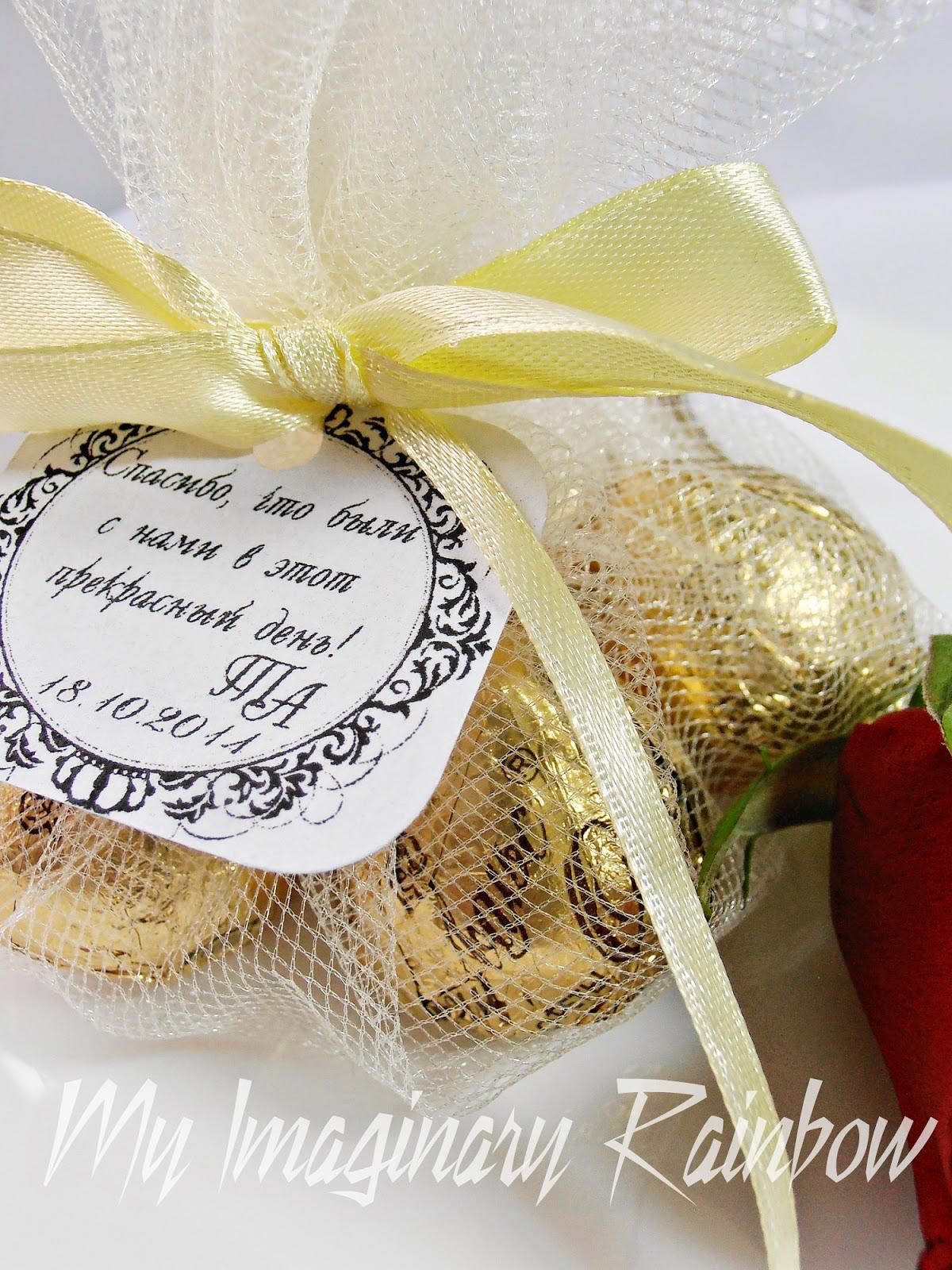 Бонбоньерки из конфет