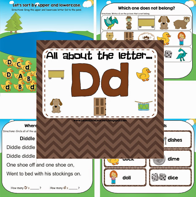 All About the Letter D - Letter of the Week SMARTBoard Activities