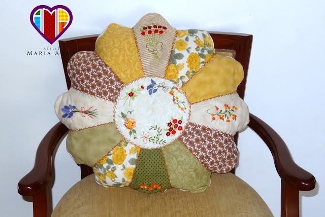 Almofadas, Patchwork, Vídeos patchwork, Aulas patchwork