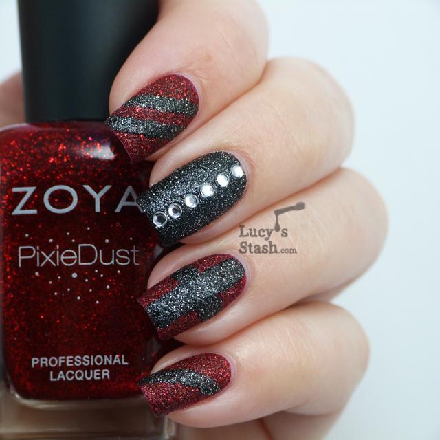 Lucy's Stash - nail art with Zoya PixieDusts