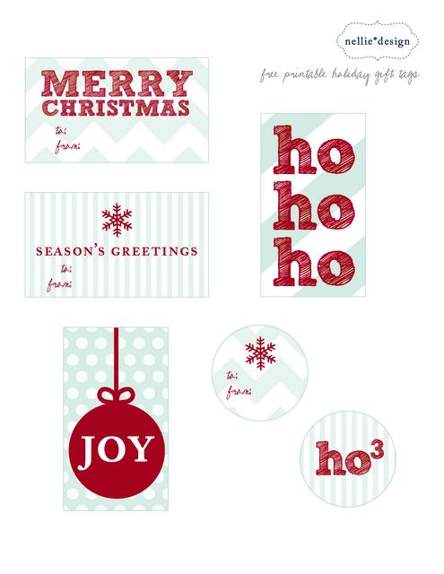 christmas snow printable tags