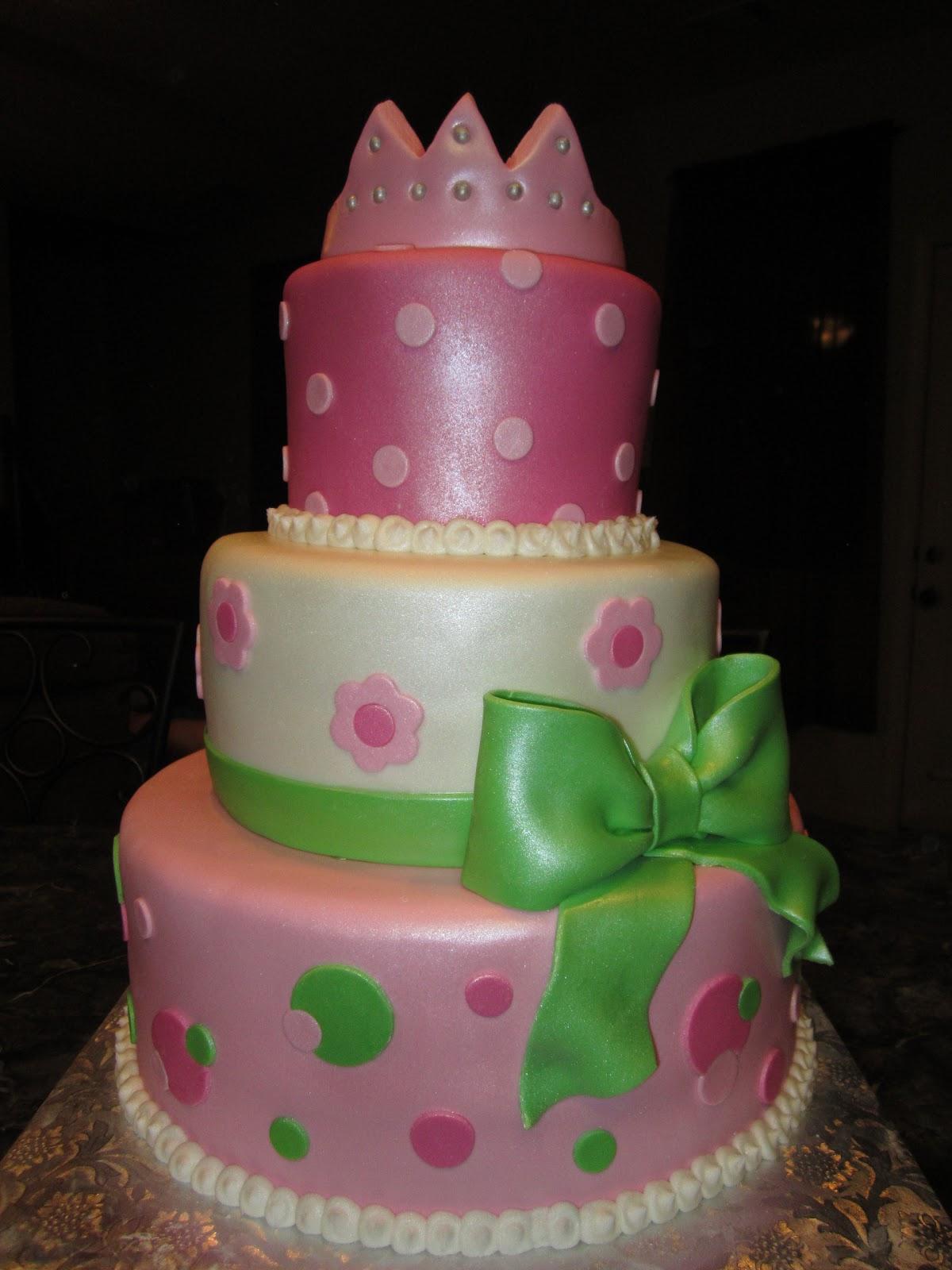 Princess Cake Ideas For Baby Shower : MyMoniCakes: New Little Princess Baby Shower Cake