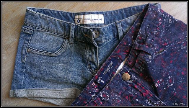 short jean denim stretch Just Jeans, pantalon slim imprimé azteque Just Jeans