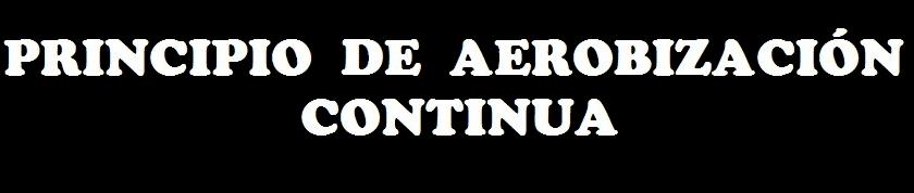 PRINCIPIO DE AEROBIZACIÓN CONTINUA