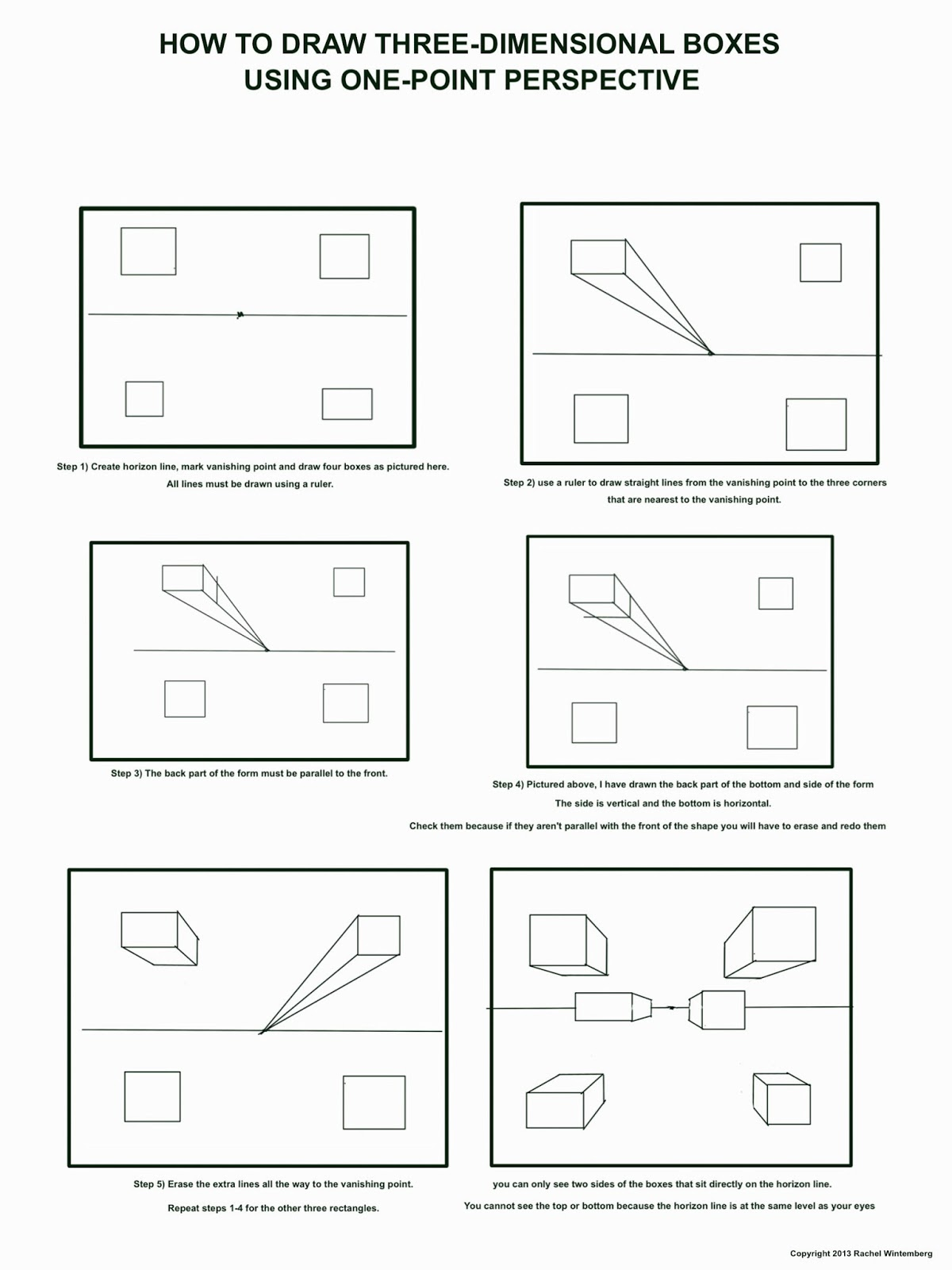 The helpful art teacher fun with one point perspective boxes and print out and follow the instructions on the worksheets above to draw the boxes in one point perspective follow the directions exactly robcynllc Choice Image