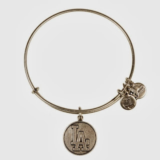 Los Angeles Dodgers MLB Cap Logo Charm Bangle