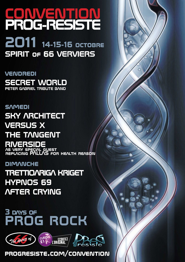 "Convention Prog-Résiste 2011 (14=>16 oct. 2011), ""Spirit of 66"", Verviers, Belgium."