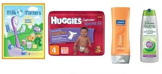 Free Chocolate bars, Shampoo, Diapers and More