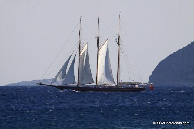 3 masted ship sailing north