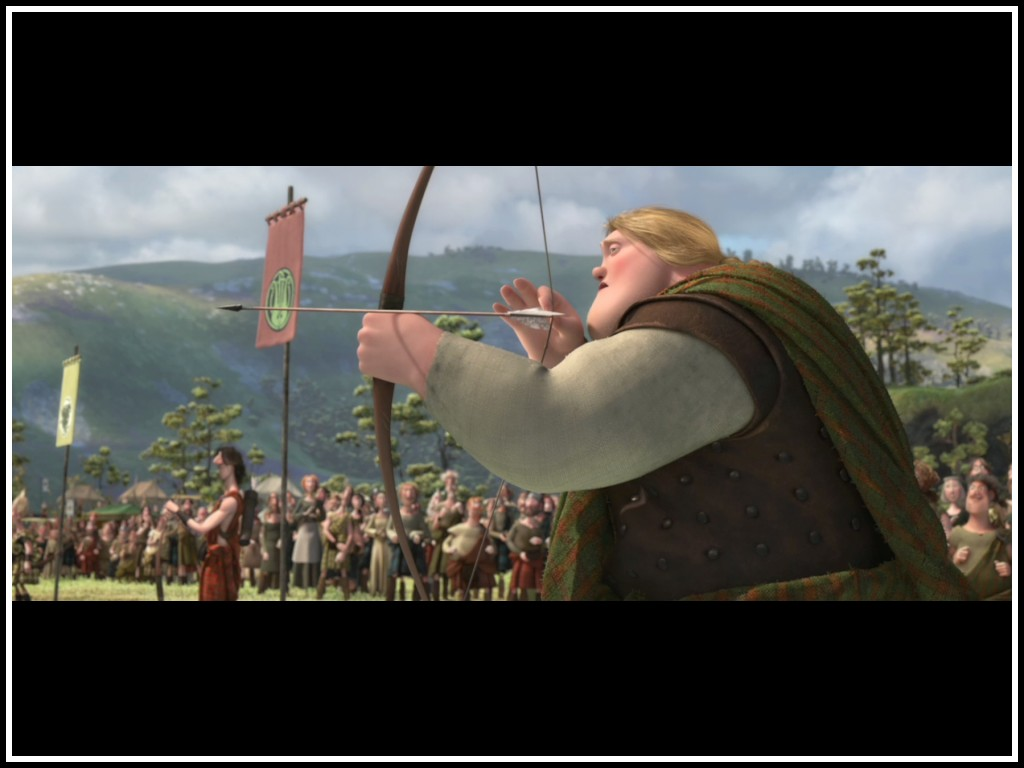 An archer at the marriage competition in Brave 2012 disneyjuniorblog.blogspot.com