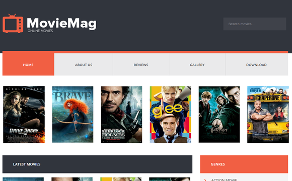Movie Mag Blogger Template | High Quality Free Blogger Templates
