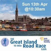 10 mile race in Cobh with proceeds going to Irish Cancer Society