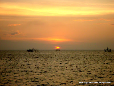sunset at Bacolod Baywalk
